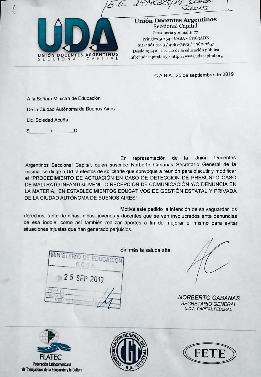 Unión Docentes Argentinos Seccional Capital Uda Capital